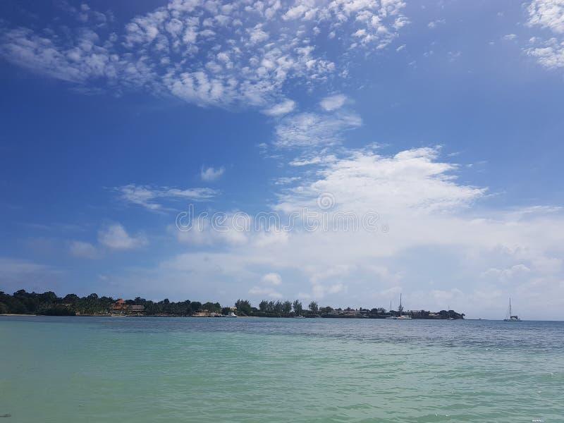 多巴哥的天空 免版税库存照片