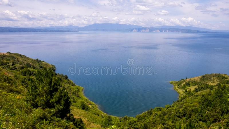 多巴湖,北部苏门答腊岛印度尼西亚 库存照片