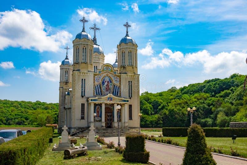 多布罗加,康斯坦察,罗马尼亚, Mai 2017年:安得烈修道院 免版税库存图片