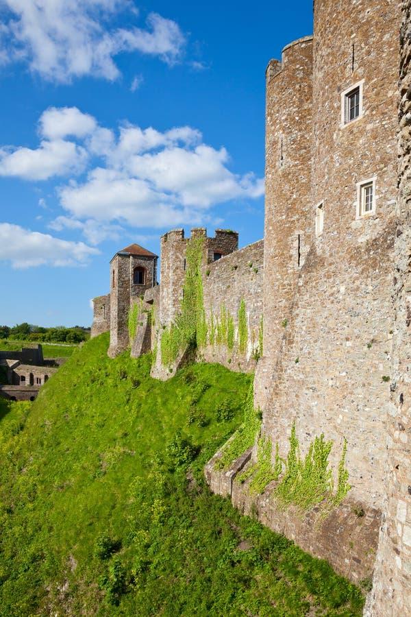 多弗城堡墙壁 免版税图库摄影