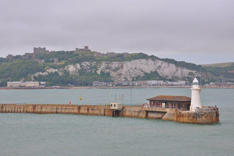 多弗,英国港  库存照片