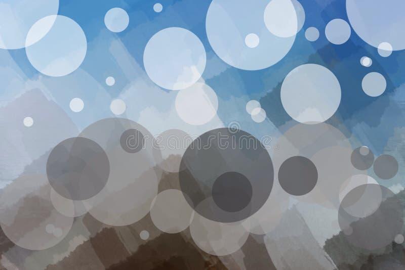 多彩多姿抽象的背景,圆在前景 库存例证