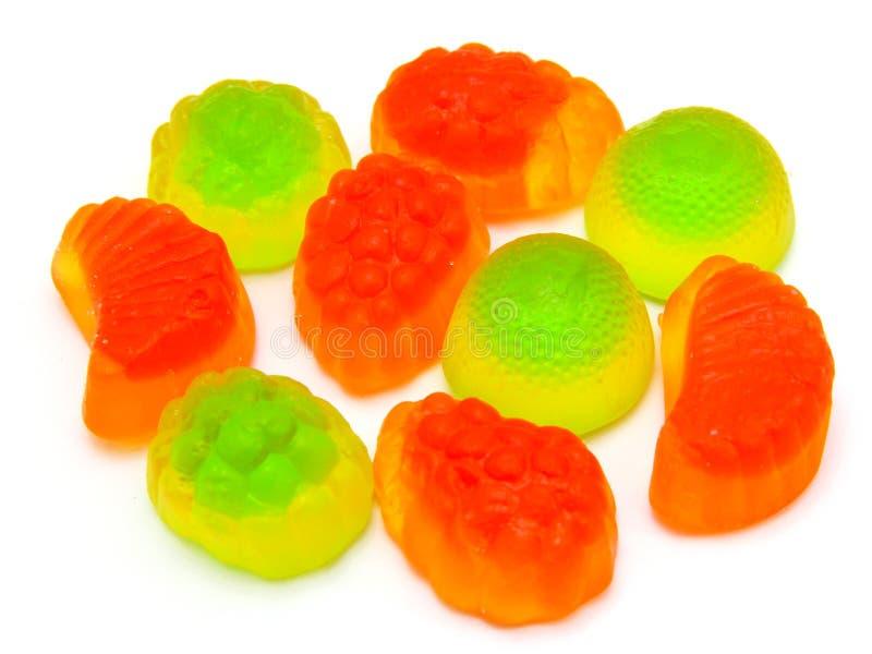 多彩多姿果子的糖果所有排序,背景 库存图片