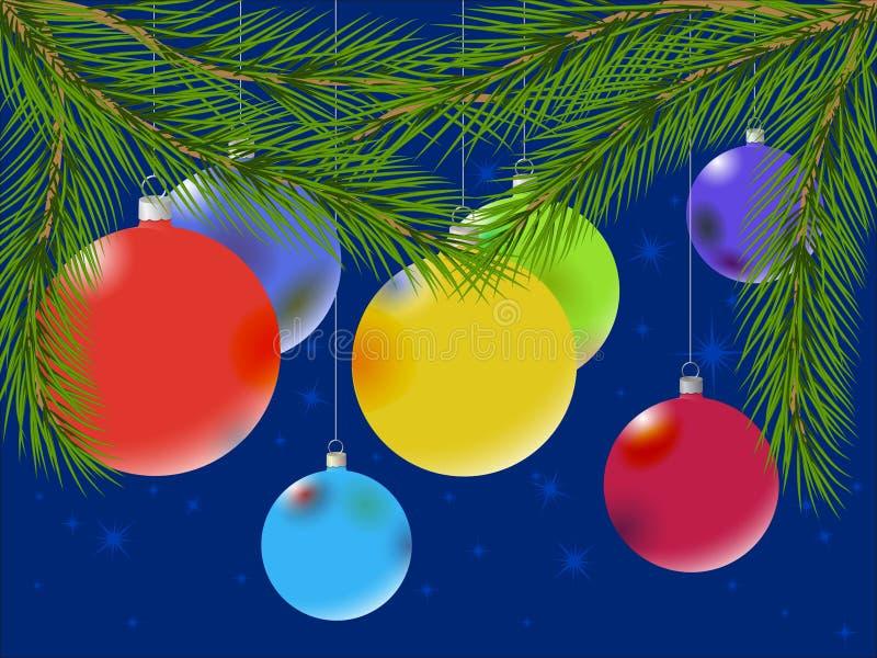多彩多姿球的圣诞节 皇族释放例证