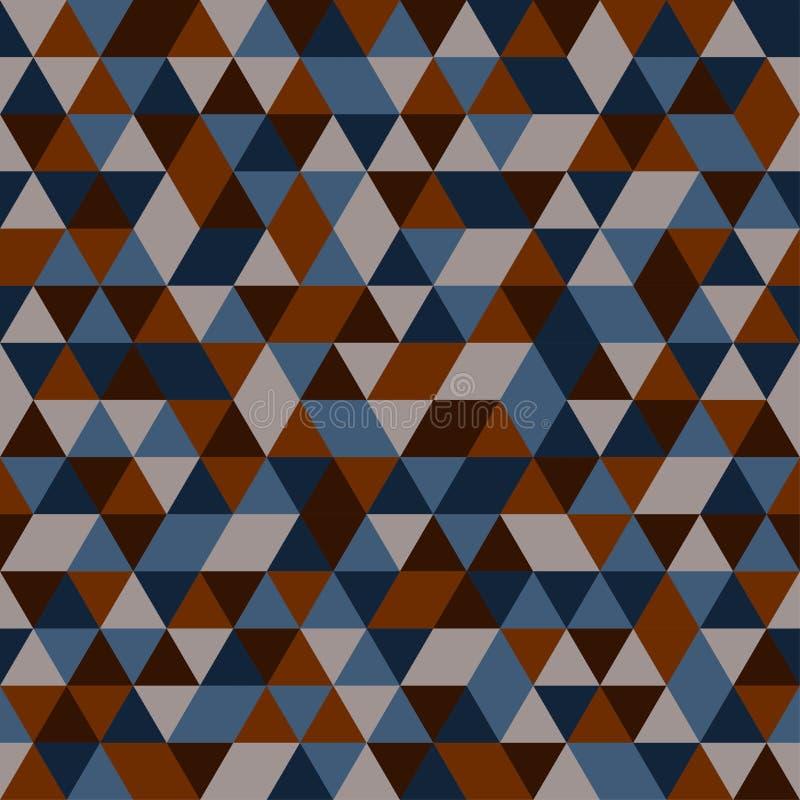 多彩多姿的三角的无缝的样式 免版税库存照片