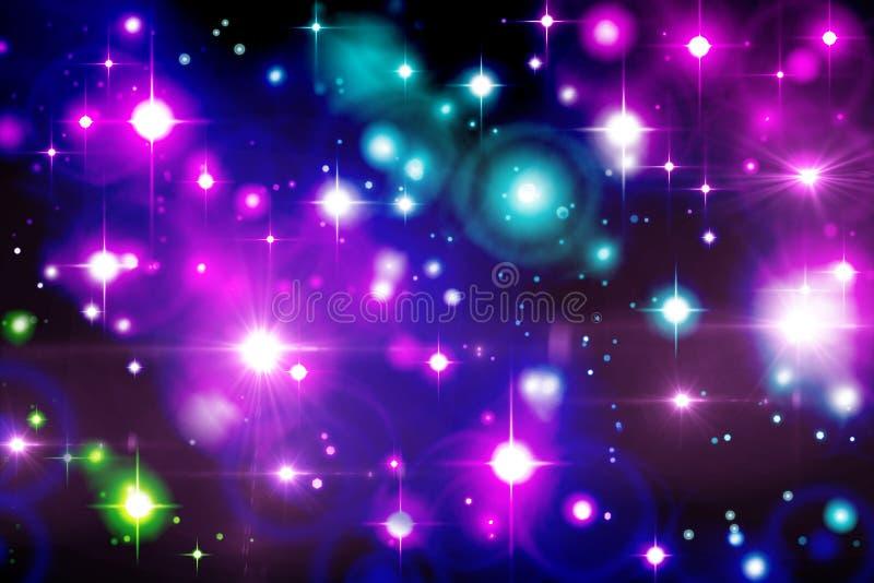 多彩多姿的光线影响bokeh假日圣诞节,党,二 向量例证
