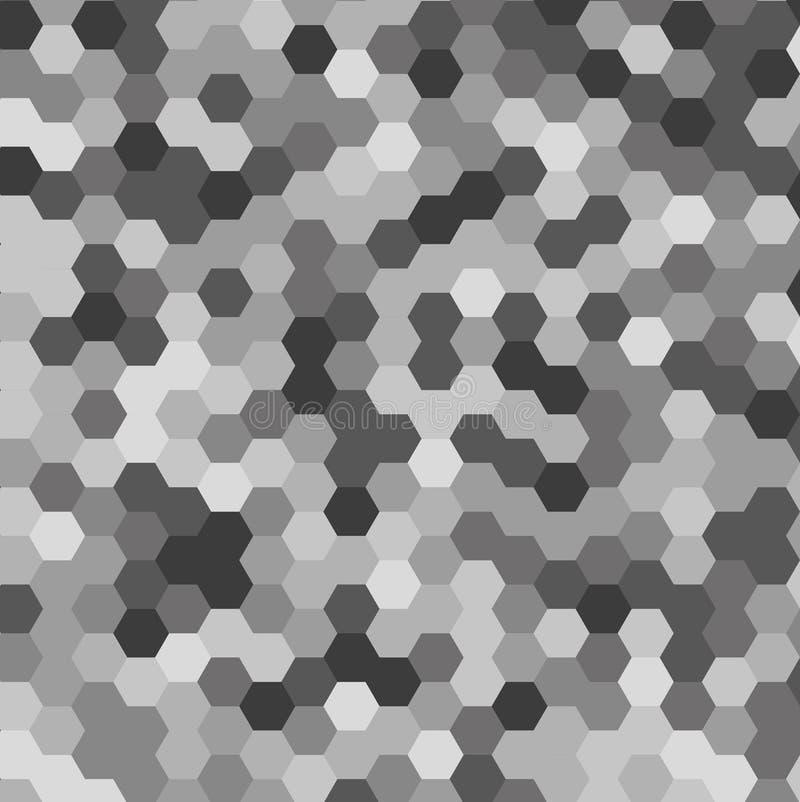 多彩多姿的六角形抽象背景  库存照片