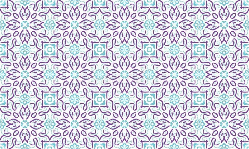 多彩多姿的几何形状的无缝的不尽的重复的明亮的装饰品 向量例证