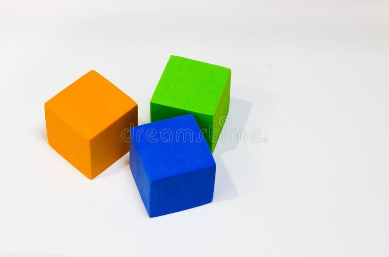 多彩多姿的多维数据集 库存图片