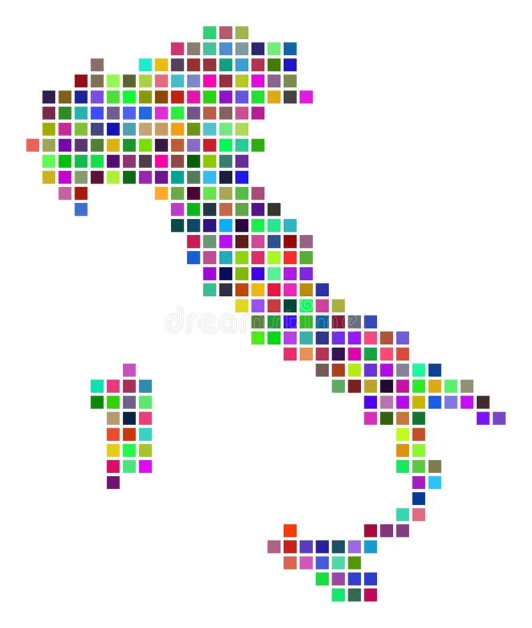 多彩多姿的小点意大利地图 向量例证