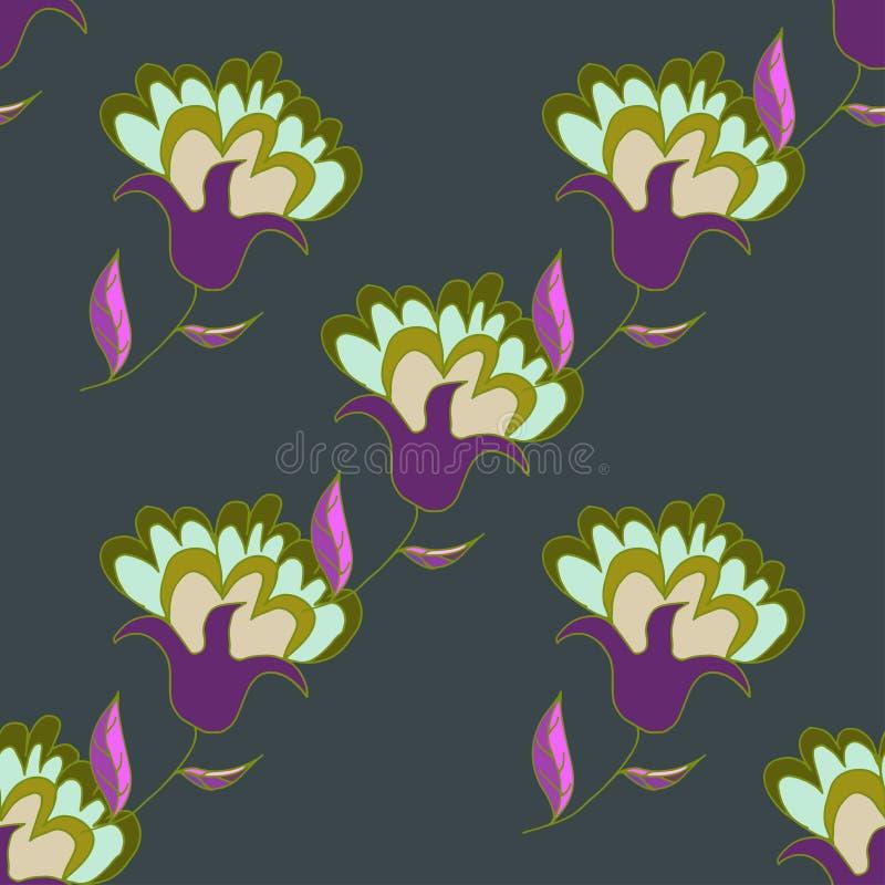 Download 多彩多姿的手拉的花卉无缝的样式 向量例证. 插画 包括有 例证, 可爱, 紫色, 现有量, 逗人喜爱, 工厂 - 72360492