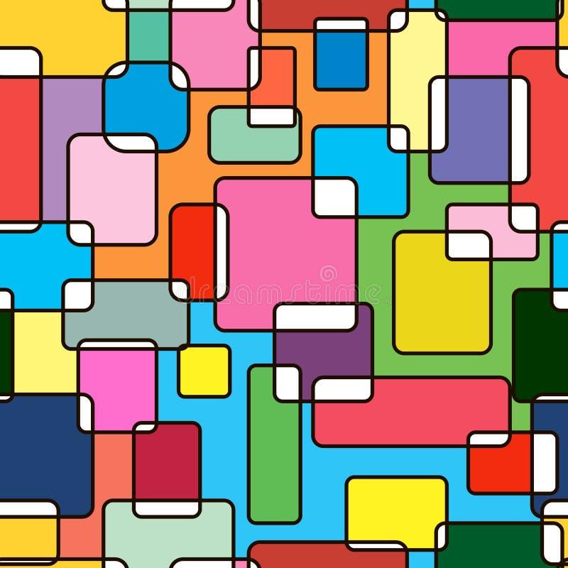 多彩多姿的无缝的抽象 库存例证