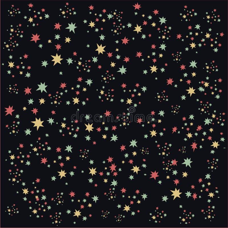多彩多姿的星形 库存例证