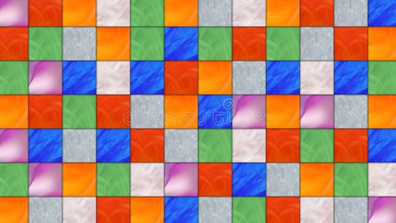 多彩多姿的正方形 向量例证