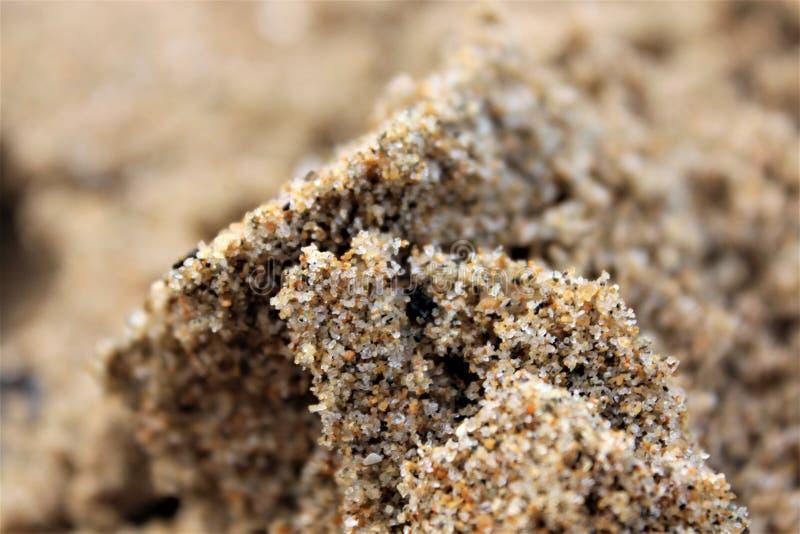 多彩多姿的沙子粒子 图库摄影