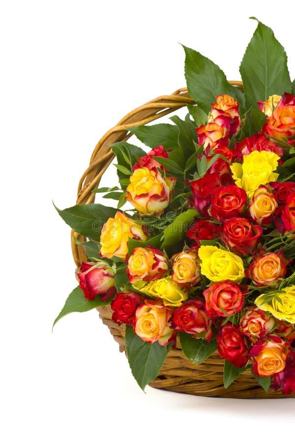 多彩多姿的玫瑰花束 库存图片