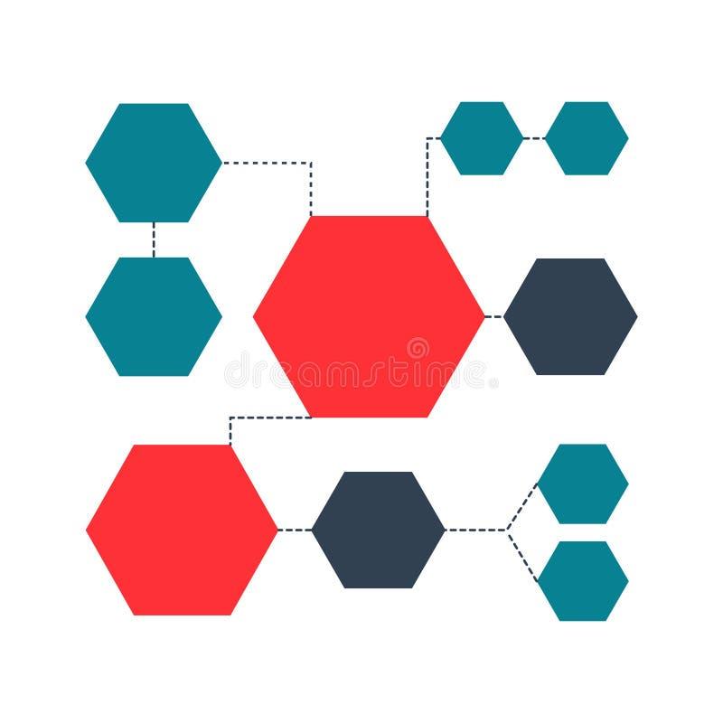 多彩多姿的结构计划,图,网络设计 企业结构概念 传染媒介设计例证 向量例证