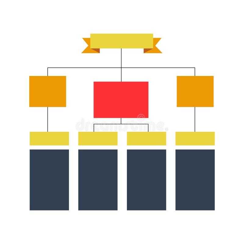 多彩多姿的结构计划,图,网络设计 企业结构概念 传染媒介设计例证 库存例证