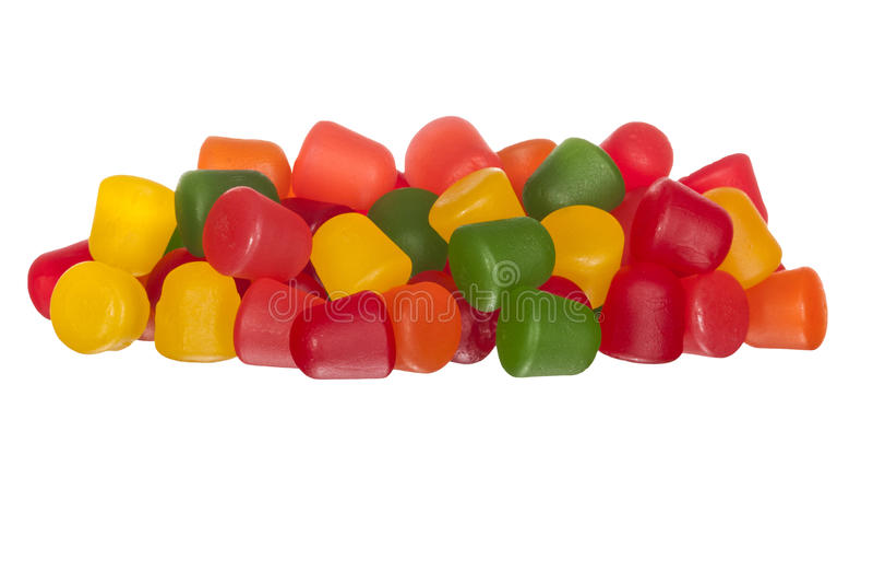 多彩多姿的胶粘的果子糖果 库存图片