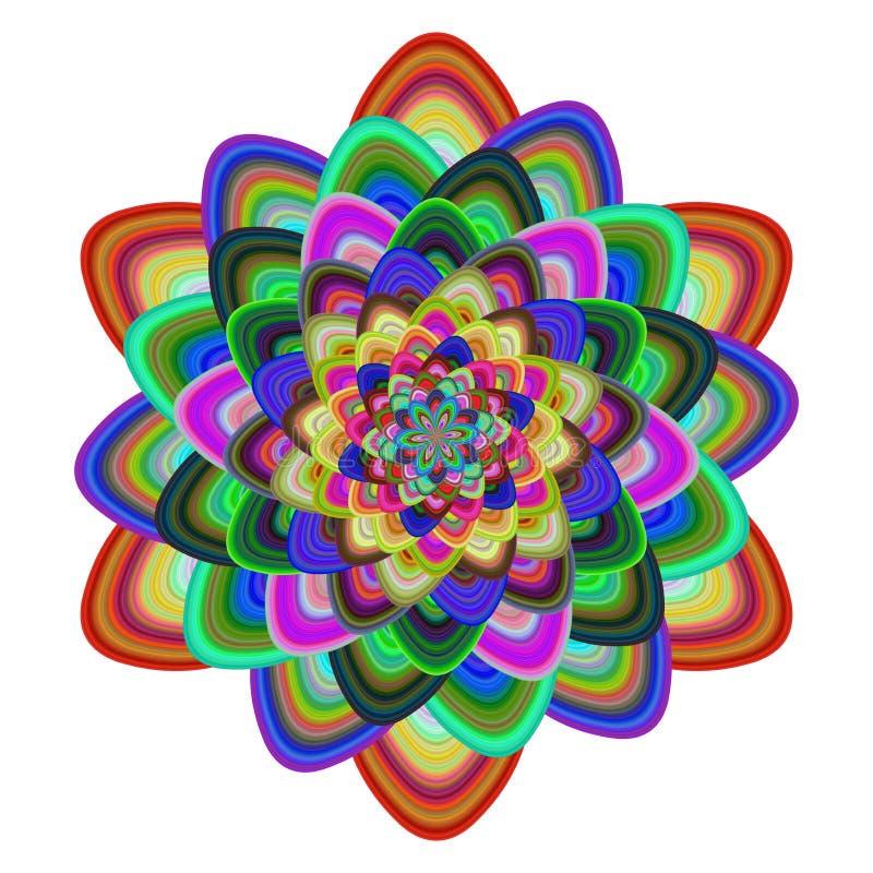 多彩多姿的花卉设计传染媒介 库存例证