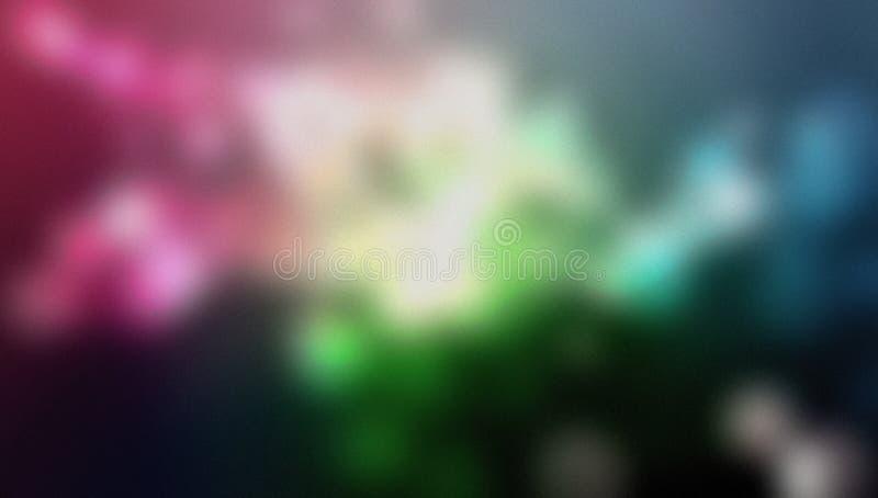 多彩多姿的迷离抽象背景传染媒介设计,五颜六色的被弄脏的被遮蔽的背景,生动的颜色传染媒介例证 库存照片