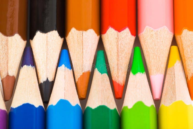 多彩多姿的铅笔 免版税库存图片