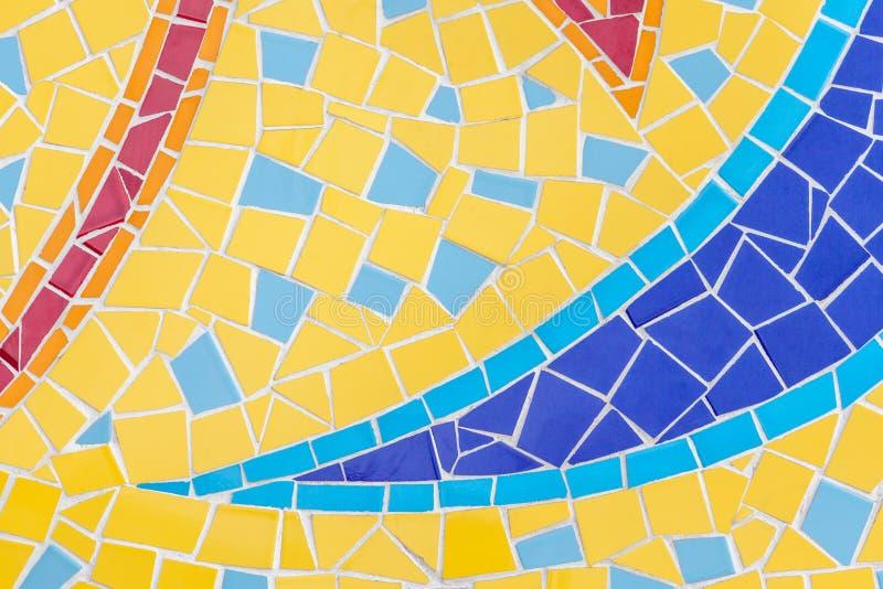 多彩多姿的锦砖的零件有经典样式backg的 免版税库存图片