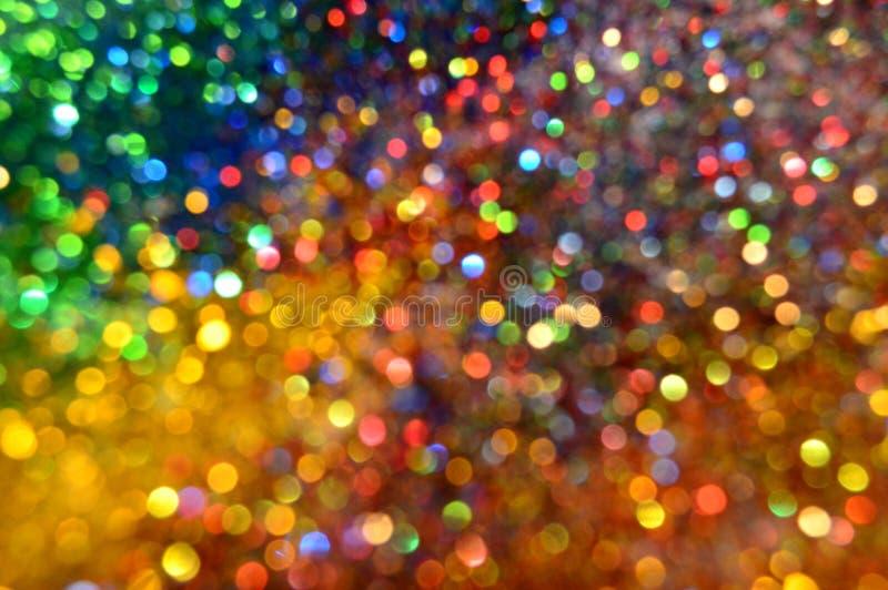 多彩多姿的闪烁和星背景 库存图片