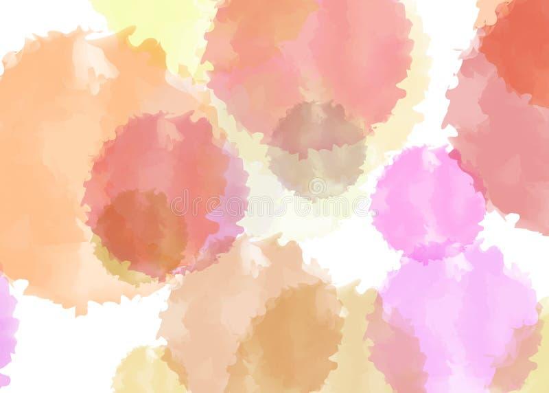 多彩多姿的水彩 免版税库存图片