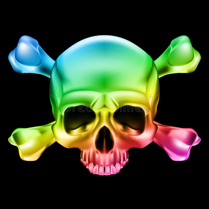 多彩多姿的头骨 向量例证