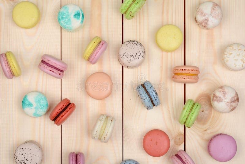 多彩多姿的macarons 免版税库存图片