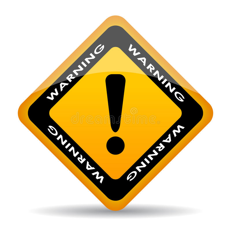更多我的投资组合符号签署警告 库存例证