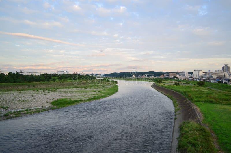 多摩市河 免版税库存照片