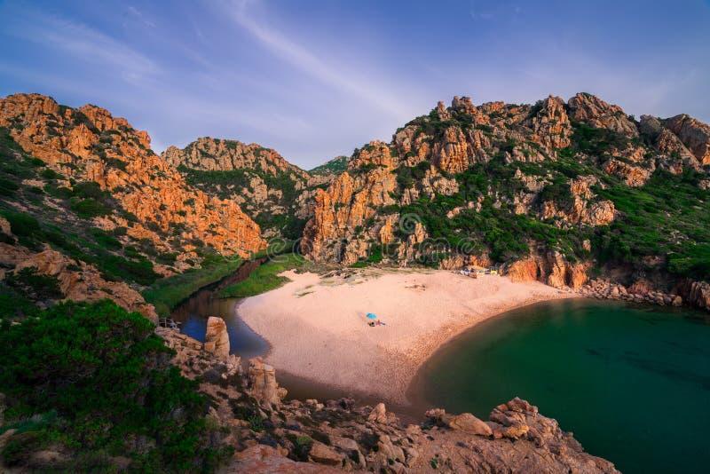 多数美丽的海岛在欧洲 最清楚的水在地中海 肋前缘Paradiso 免版税库存图片