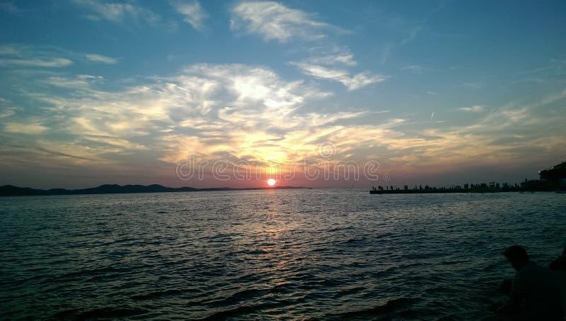 多数美好的日落在世界上 库存图片