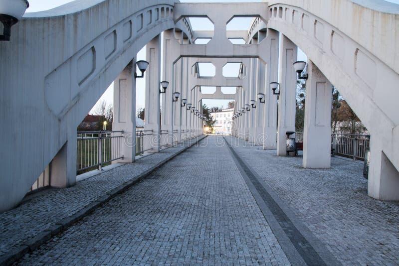 多数Sokolovskych hrdinu桥梁在捷克共和国的卡尔维纳- Darkov市 免版税库存照片