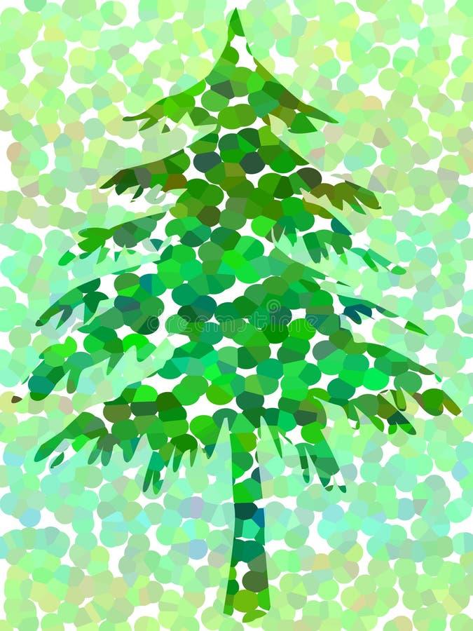 多斑点的结构树 向量例证