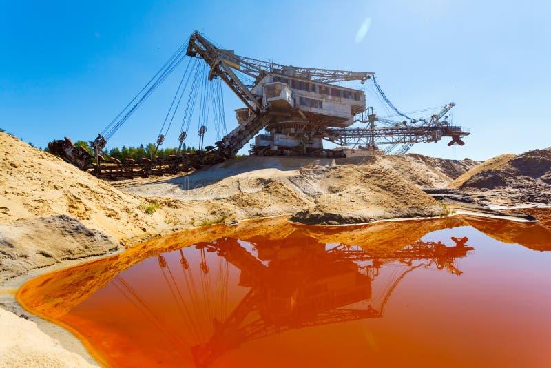 多斗式挖土机,巨型堆货机,在事业的absetzer 图库摄影