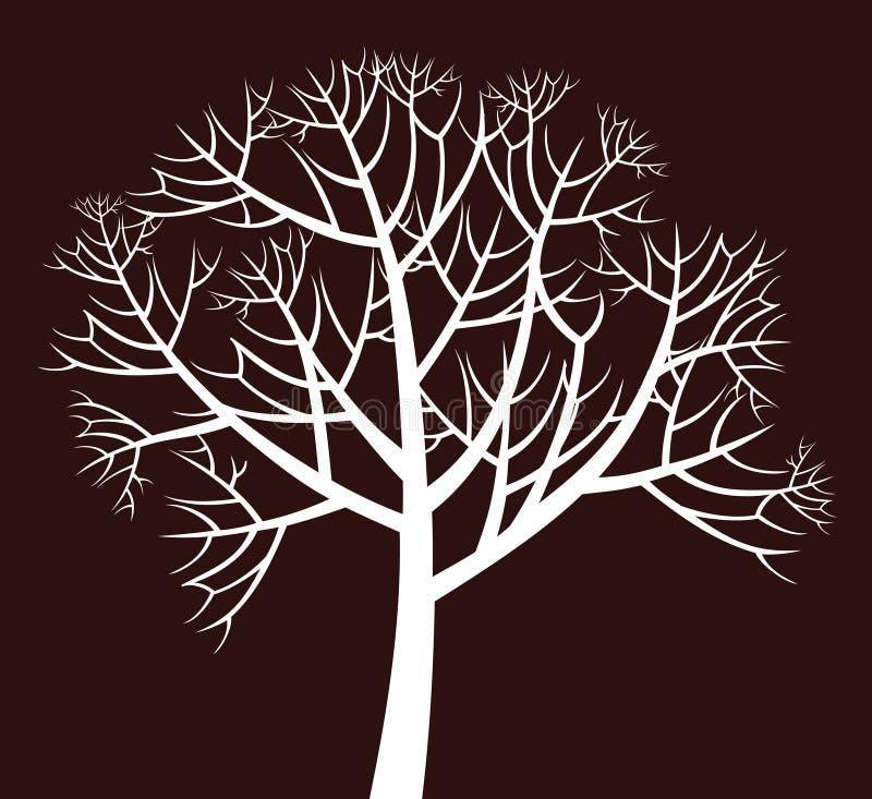 多枝结构树 向量例证