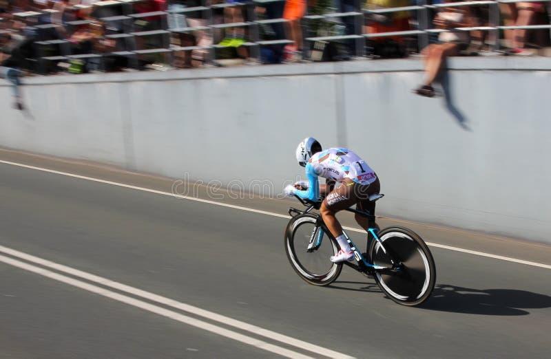 多梅尼科Pozzovivo, AG2R la Mondiale 免版税库存照片