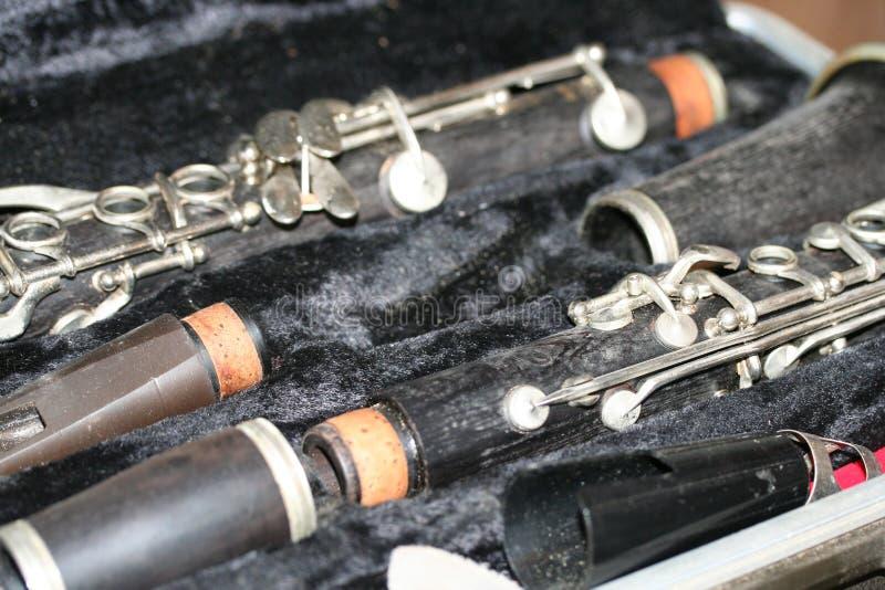 多灰尘的单簧管 库存图片