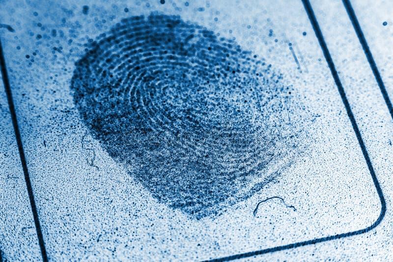 多灰尘的指纹记录 免版税库存照片