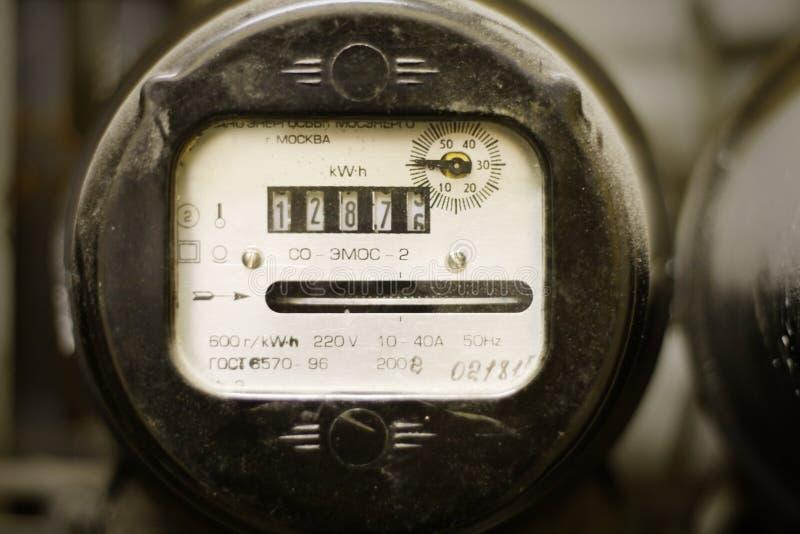 多灰尘的电米老用品 库存图片