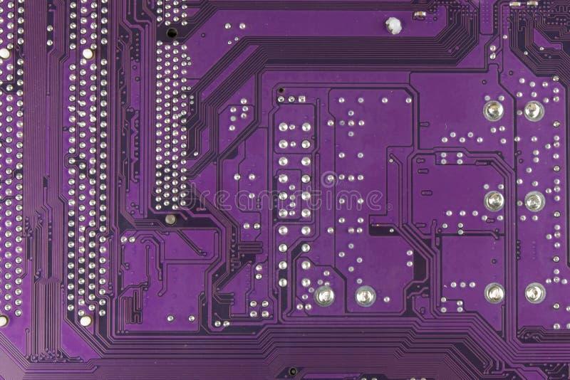 多灰尘的电路板 高技术特写镜头 免版税图库摄影