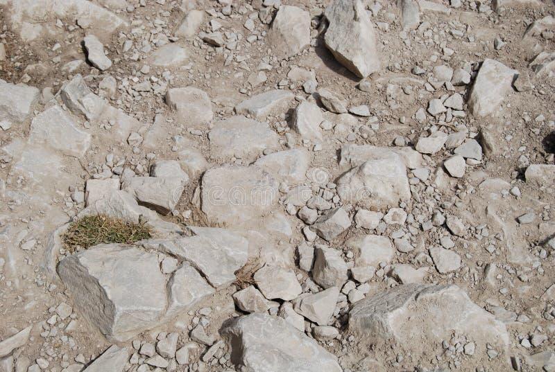 多灰尘的石地板 免版税库存照片