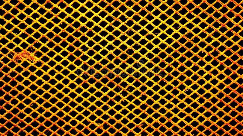多灰尘的滤网导线 库存照片