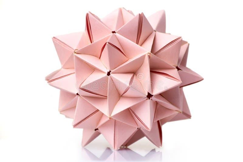 多片断尖刻的origami球 库存图片