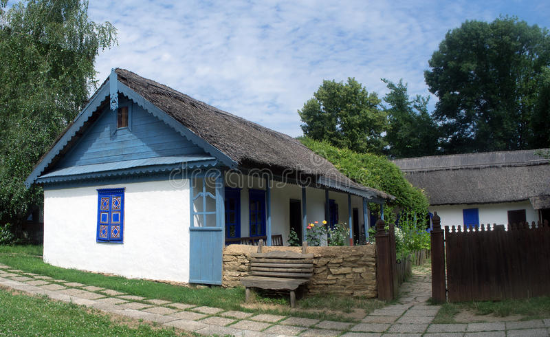 从多瑙河三角洲的土气传统俄国Lipovan家庭 免版税库存图片