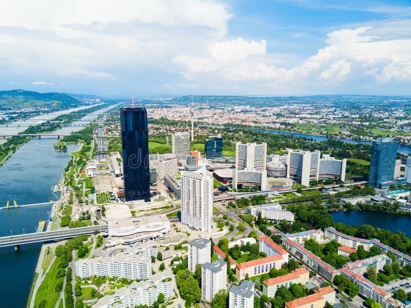 多瑙河区天线,维也纳 图库摄影