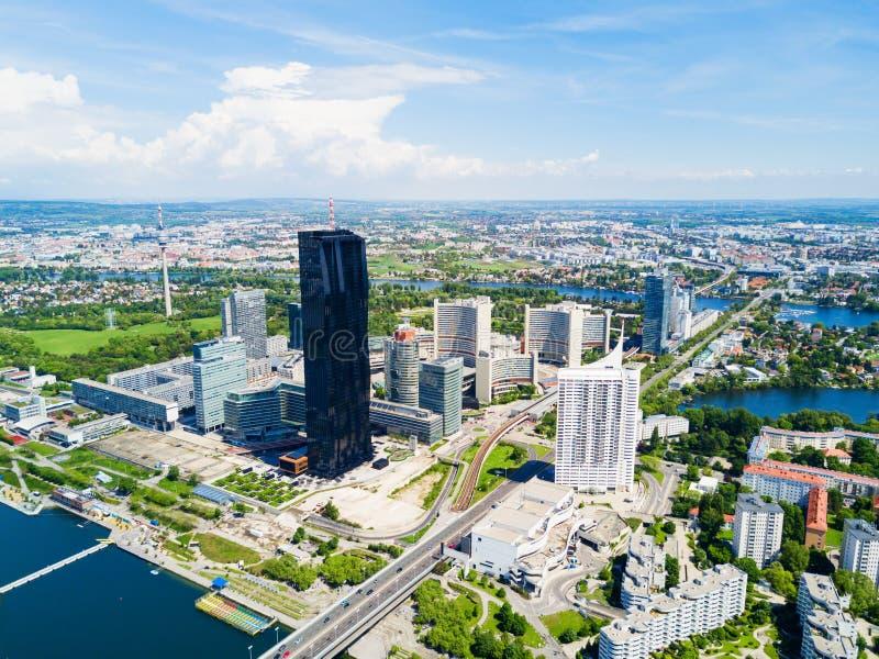 多瑙河区天线,维也纳 库存照片
